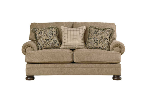 Keereel Sand Loveseat - Jaimes Furniture