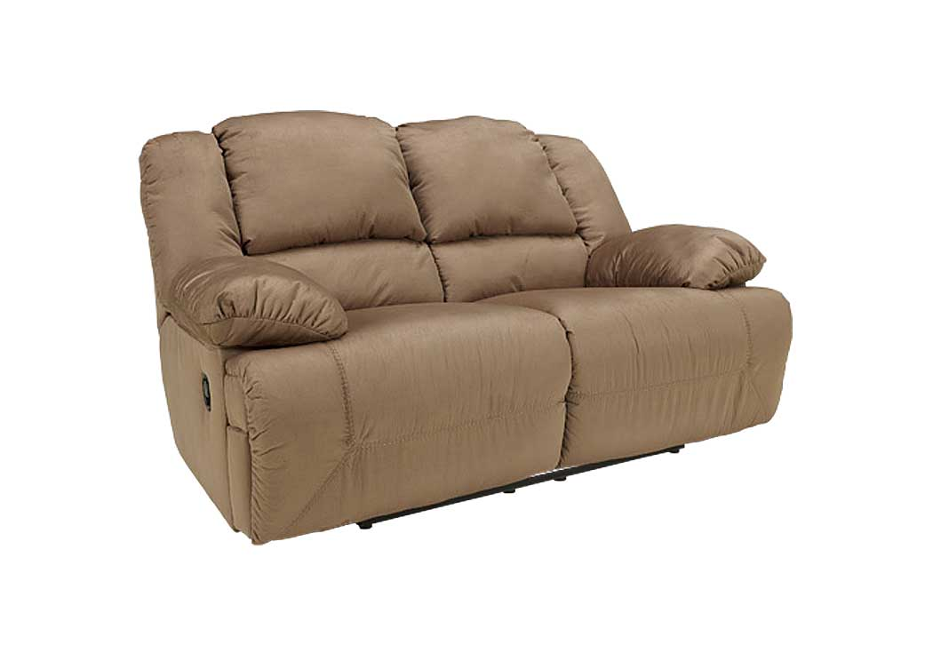 Hogan Mocha Reclining Loveseat - Jaimes Furniture