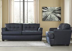 Inmon Navy Sofa and Loveseat - Jaimes Furniture
