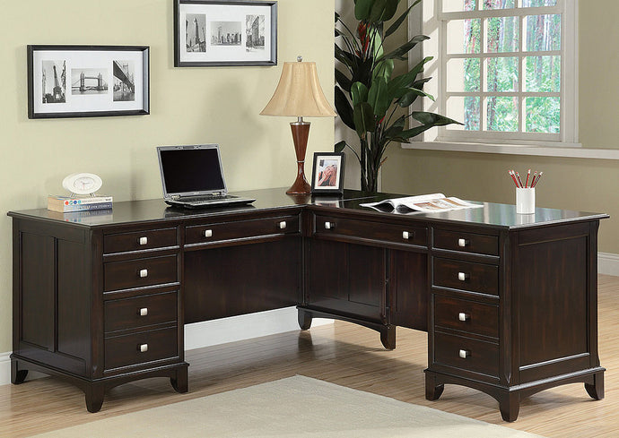Cappuccino Office Desk - Jaimes Furniture