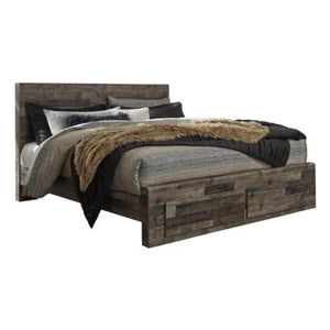 Derekson B200 King Panel Storage Bed (Beds - King) - Jaimes Furniture