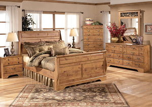 Bittersweet King Sleigh Bed - Jaimes Furniture