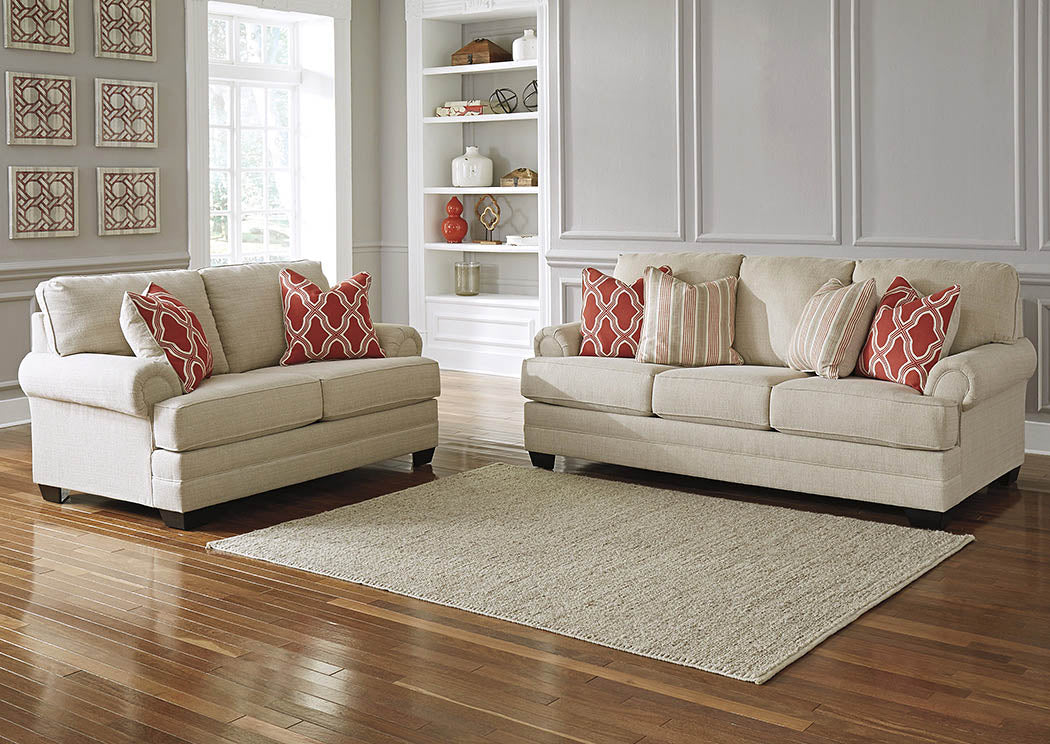 Sansimeon Stone Sofa and Loveseat - Jaimes Furniture