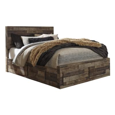 Derekson B200 Queen Panel Storage Bed (Beds - Queen) - Jaimes Furniture