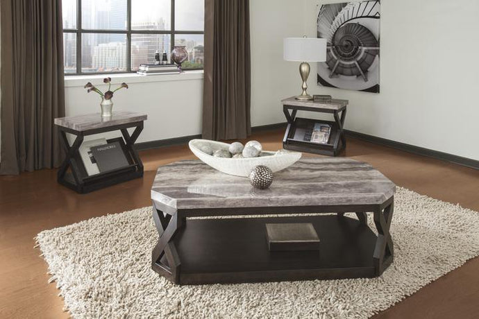 Radilyn Faux Marble 3PC Table Set