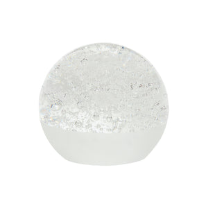 white glass paperweight