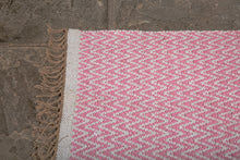 chevron cotton and jute rug