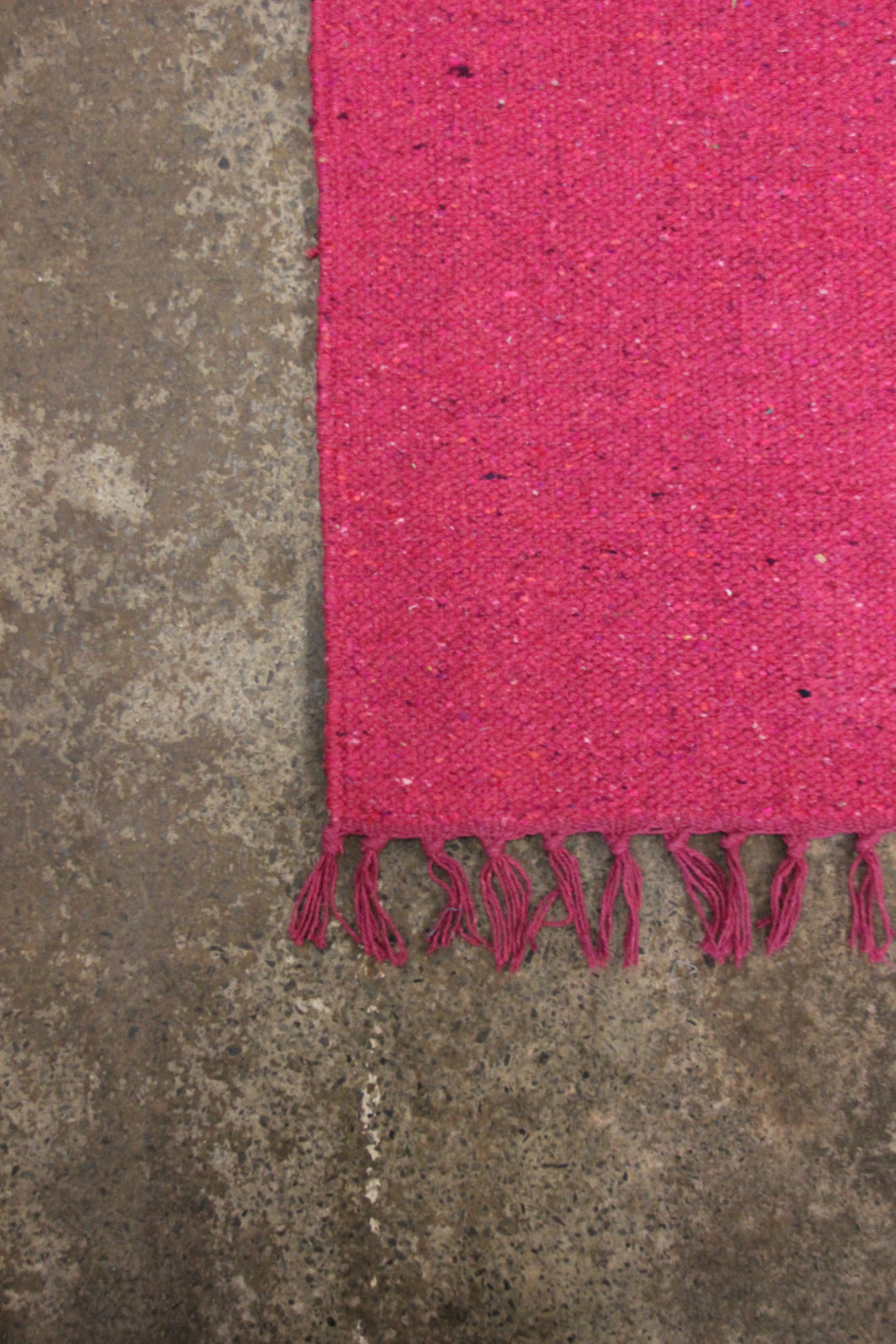 handloomed cotton and jute  rug
