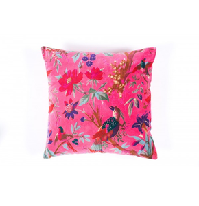 velvet  'bird of paradise 'cushion