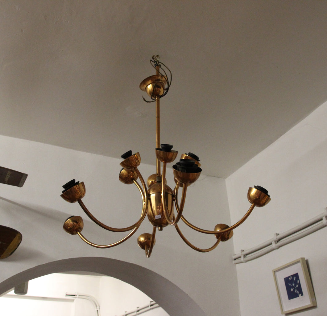 mid-century copper chandelier