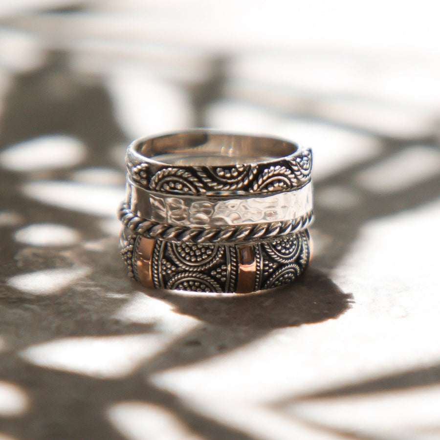 set of 4 stackable rings