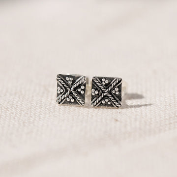 Sydney - Sterling Silver Boho Stud Earrings