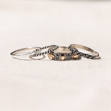 Ella - Set of 4 Bohemian Ring Set