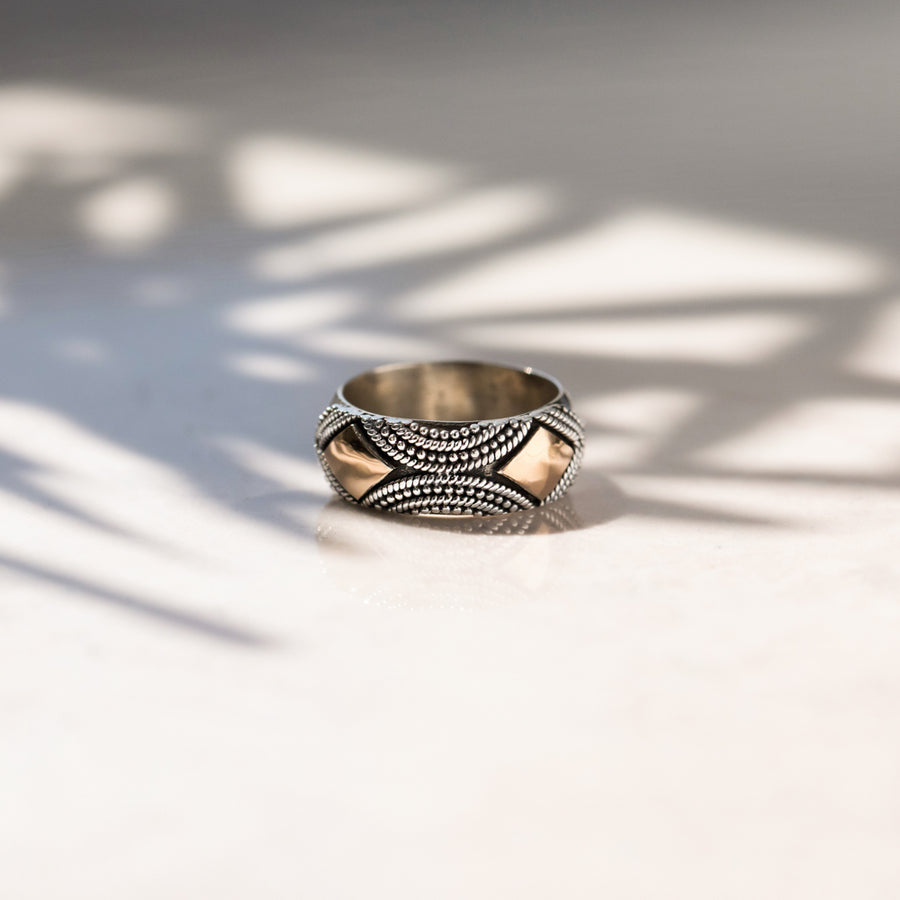 UNIQUE SILVER STATEMENT RING - AGRA