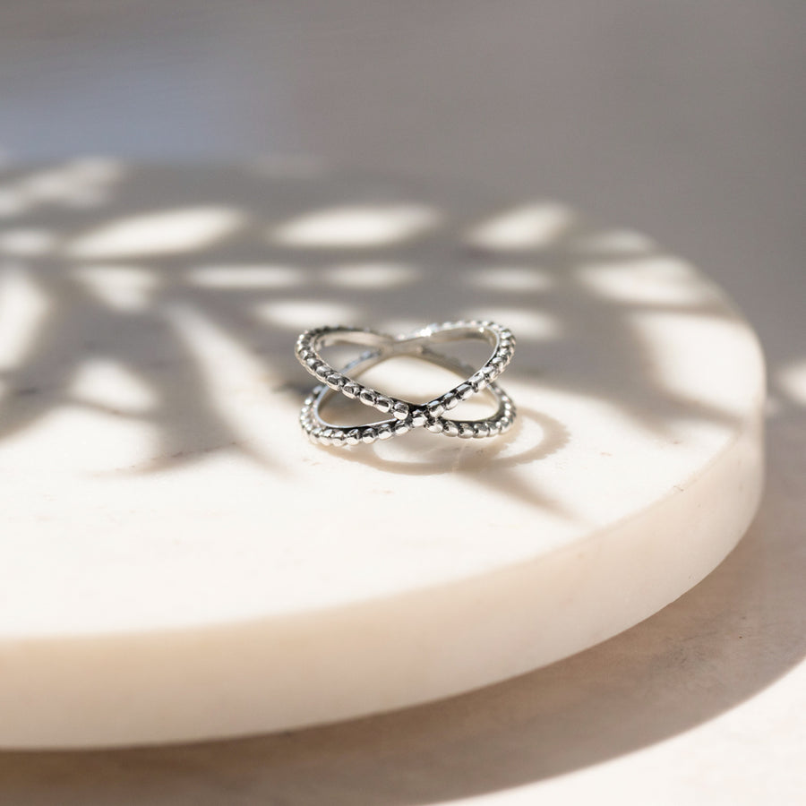 MODERN STERLING SILVER ETERNITY RING - SAMAR PROMISE