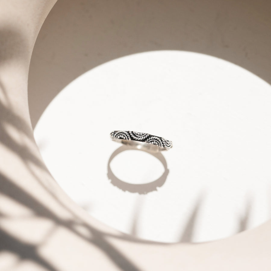 HANDMADE STERLING SILVER THIN STACKING RING - BRIGHTON