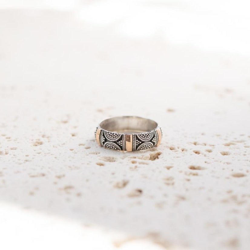 Brighton - Boho Sterling Silver Gold Ring