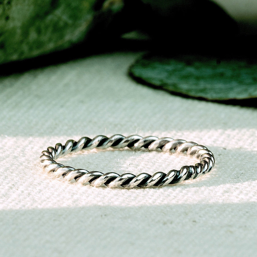 Ubud - Unique Mixed Metal Ring Set