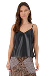 LEATHER REPORT VEGAN LEATHER TANK
