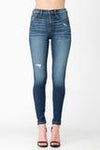 SNEAK PEEK HIGH RISE SKINNY DENIM