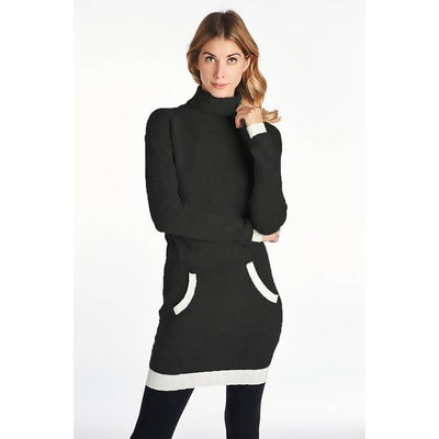 TURTLENECK KNIT TUNIC SWEATER