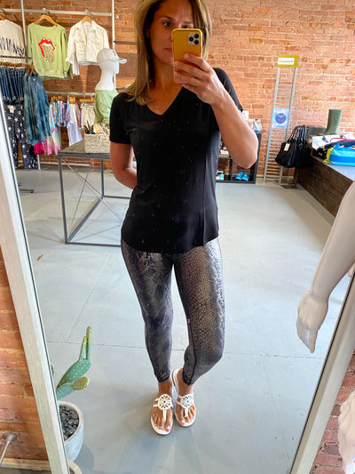 COPPERHEAD SNAKESKIN LEGGINGS