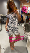 COOL AS CAMO SHORT ROMPER