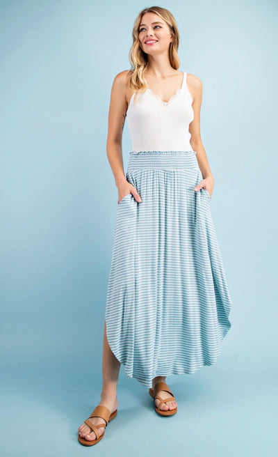 FOLLOW THE LINES MAXI SKIRT