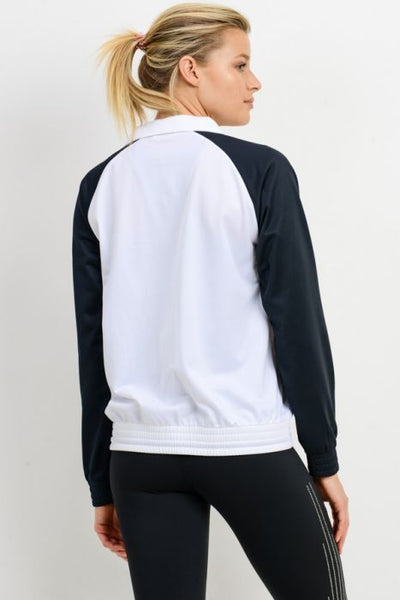 MANTRA VIE TRACK RAGLAN JACKET-FINAL SALE