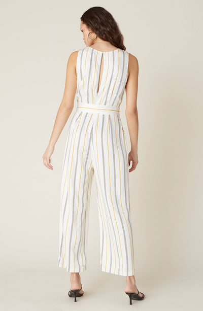 BB DAKOTA KNOW YOUR STRIPE JUMPSUIT