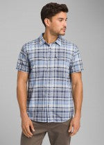 PRANA MENS CAYMAN PLAID SHORT SLEEVE SHIRT-FINAL SALE
