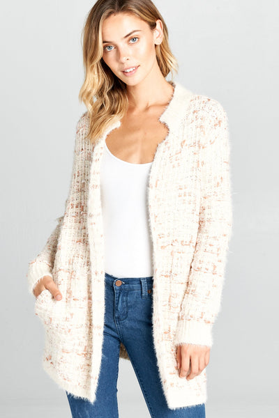 TWEED SWEATER CARDIGAN