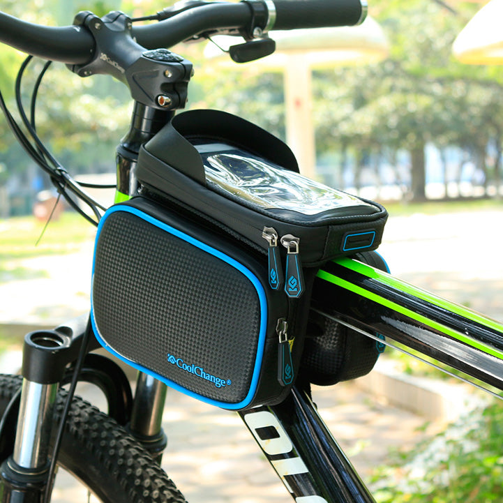 Bicycle front pack with waterproof phone holder - hauzstyle.com