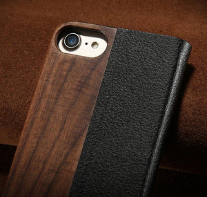 Wood Flip Case for iPhone & Samsung - hauzstyle.com
