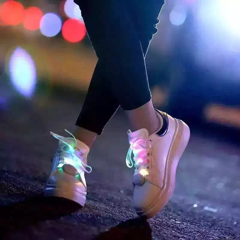 GLOW LACE - Multi Colored LED Glowing Shoelaces - hauzstyle.com