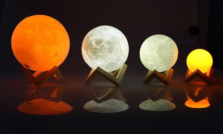 Moon Glow 3D Moon Lamp With Base - hauzstyle.com