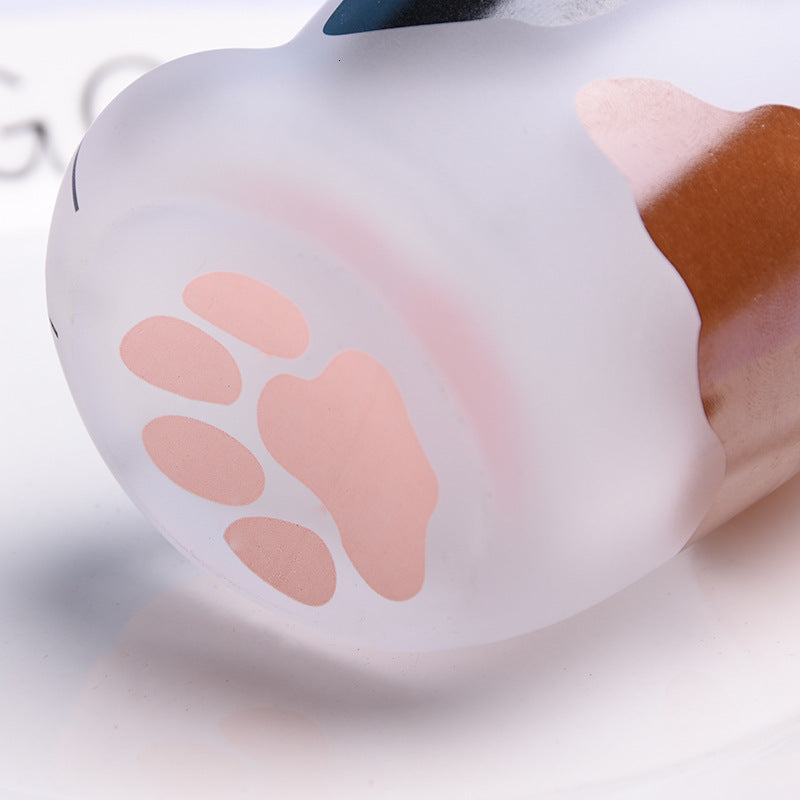 Purr - Frosted Cat Paw Glass - hauzstyle.com