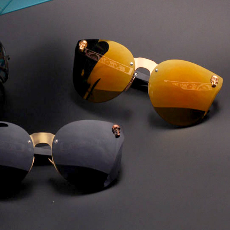 Skull Cat Eye Sunglasses - hauzstyle.com