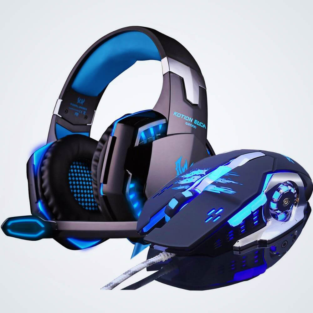 TOP RATED GAMING HEADSET WITH OPTICAL GAMING MOUSE COMBO - hauzstyle.com