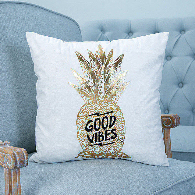 Good Vibes Pillow Cover - hauzstyle.com