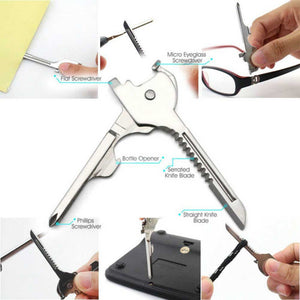 6 in1 Stainless Steel Pocket Survival Utility Key - hauzstyle.com