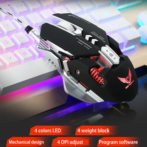 Professional Macro Programming Wired Gaming Mouse - hauzstyle.com