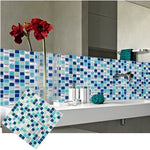 FAUX 3D Mosaic Glass Tile Decal Panels - Cool - hauzstyle.com