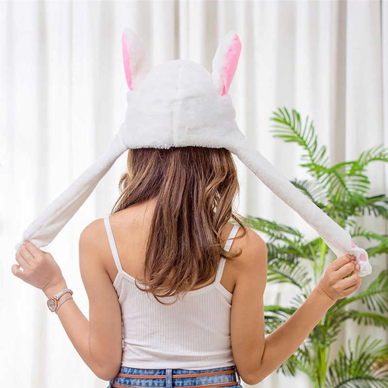 Bunny Ear Flipping Plush Hat - hauzstyle.com