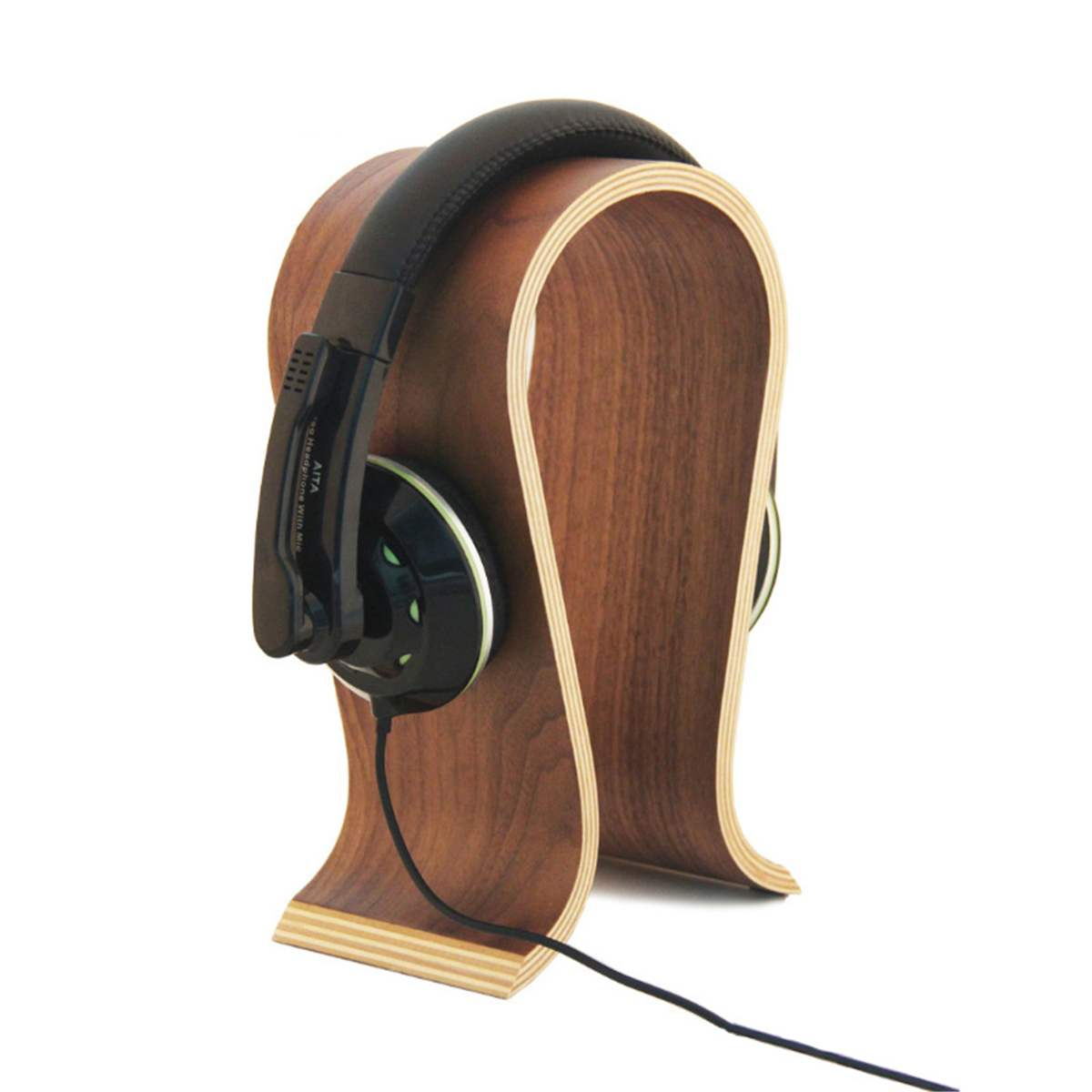 Universal U Shape Wooden Headphone Stand - hauzstyle.com