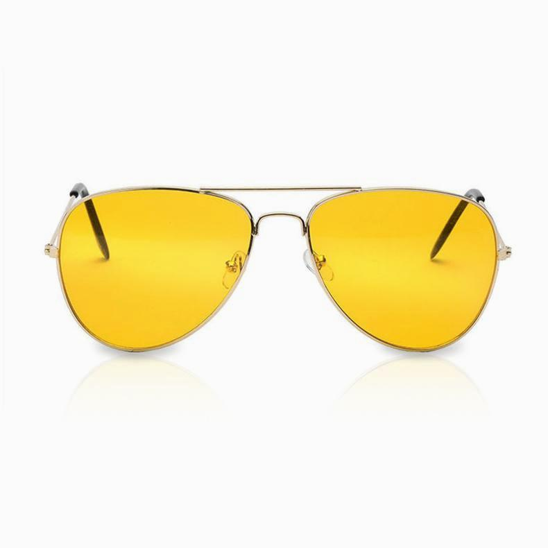 AMELIA - Yellow Aviator Sunglasses - hauzstyle.com