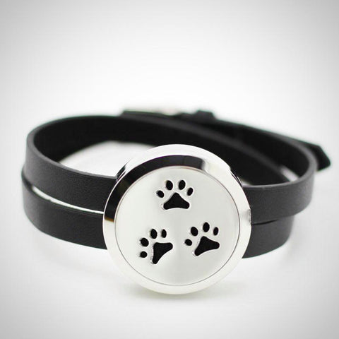 Pet Paws Locket Design Aromatherapy Essential Oil Diffuser Bracelet
