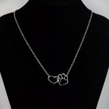 Intertwined Heart & Paw Necklace