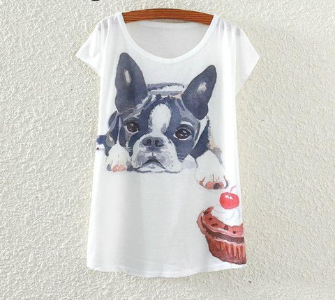 French Bulldog Tees for Women, 4 Prints to Choose From