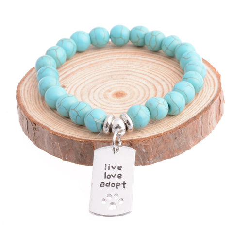 Fashion Live Love Adopt Charm Bracelet